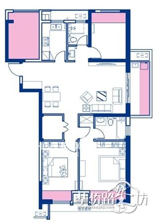 长方形四室两厅设计图 农村
