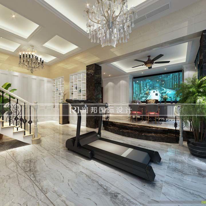 润邦装饰公司叠加别墅欧式风格健身区装修效果图