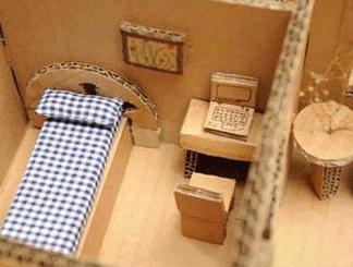 如何DIY纸箱改造房子