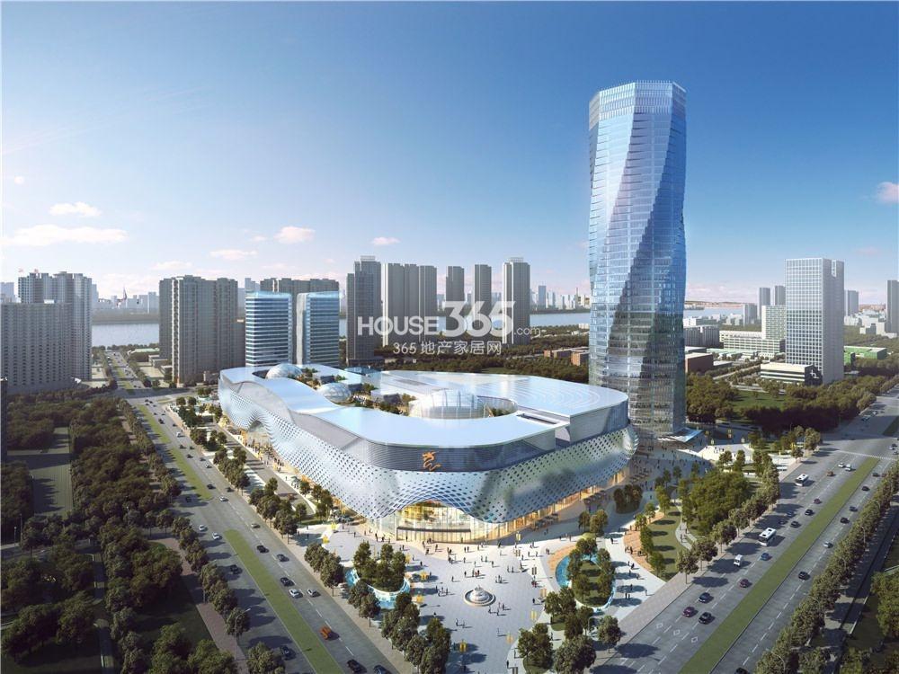 滨江宝龙城市广场鸟瞰效果图图片