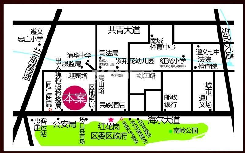 朗庭豪园交通图