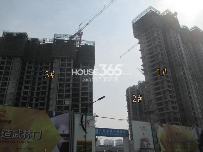 理想银泰城项目1、2、3号楼施工进程图(2015.3)