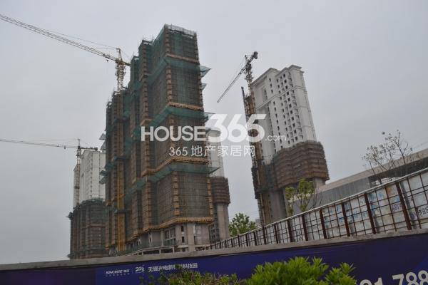 启迪协信无锡科技城工程进度实景(2015.4)