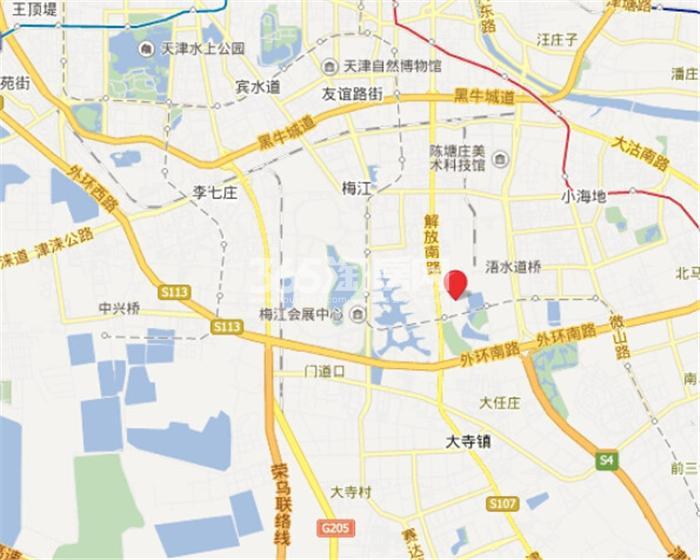 新梅江锦秀里交通图