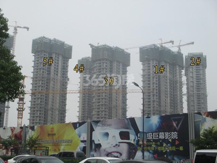 理想银泰城项目1—5号楼施工进程图(2015.6)