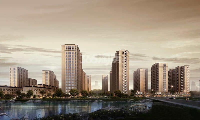 中南白马湖壹号项目整体效果图