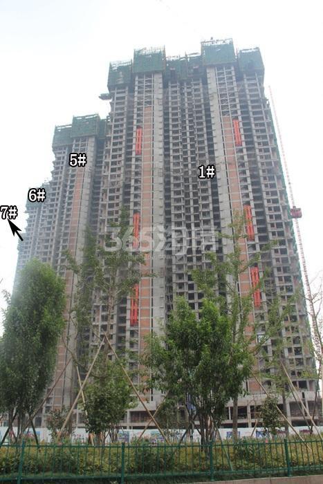 理想银泰城项目1、5、6、7号楼施工进程图(2015.8)