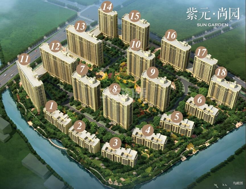 紫元尚园鸟瞰图