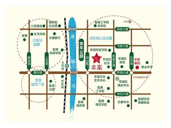 华建颐园交通图