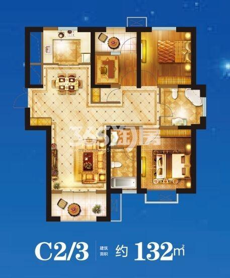 荣盛云龙观邸 C2/3两室两厅132㎡
