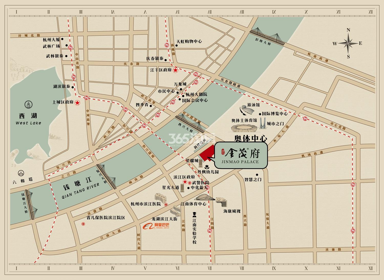 滨江金茂府交通图