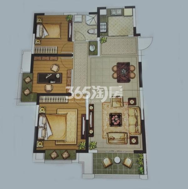 23#B三室两厅一卫户型