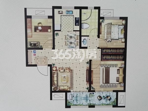 二期E户型三室两厅一卫