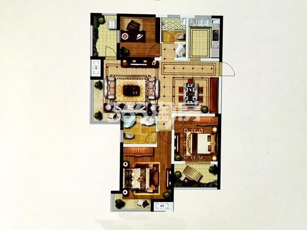 G6户型三室两厅两卫