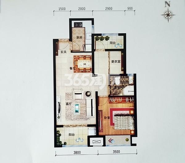 G户型两室两厅一卫