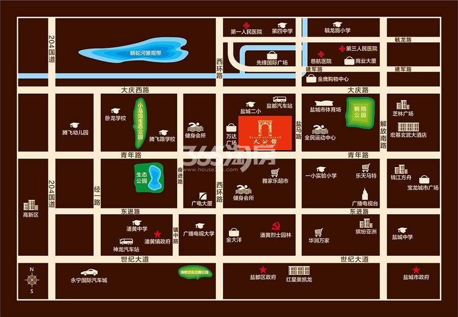 万达华府·大公馆交通图