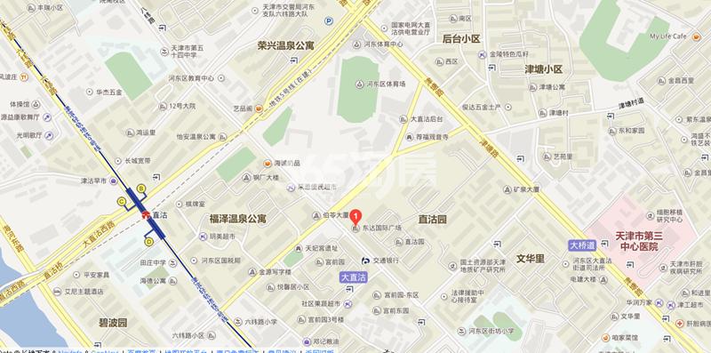 东达国际广场交通图