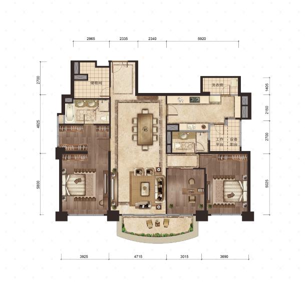 3号楼-2号室 230平米 3室2厅2卫