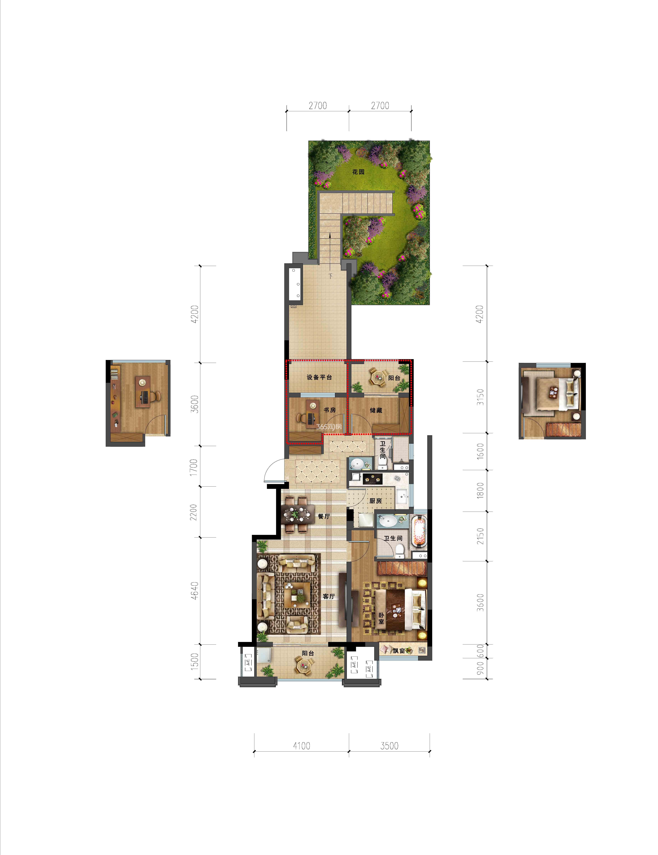 洋房a1一层户型89方地下室_嘉兴金地艺境_嘉兴新房网