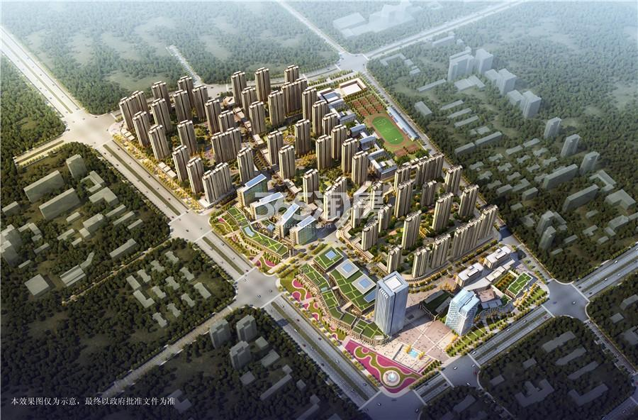 智慧锦城 鸟瞰图