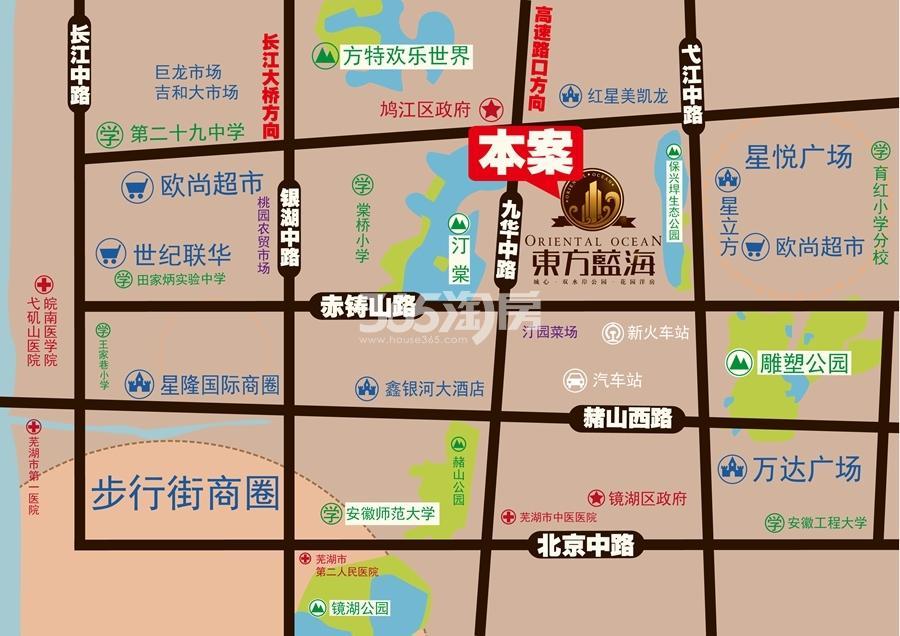 东方蓝海交通区位图
