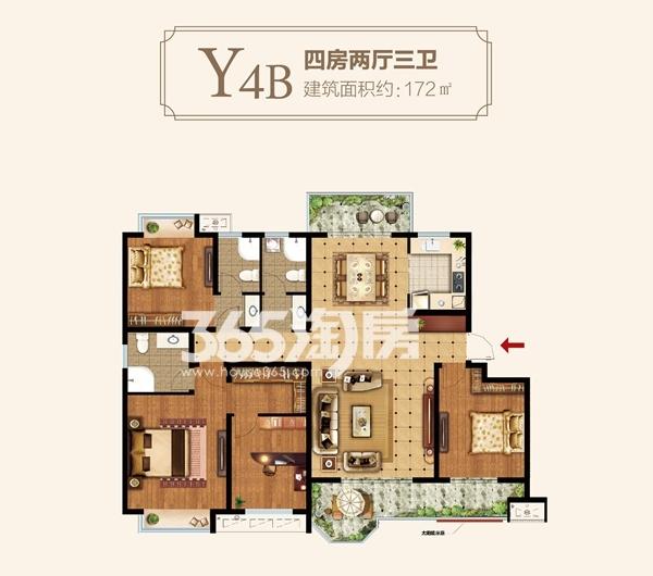 Y4B户型四房两厅三卫