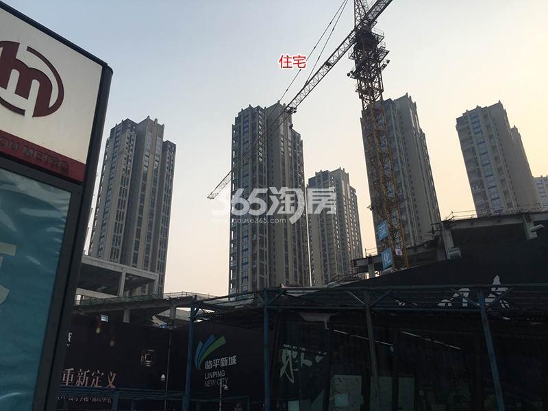 理想银泰城住宅房源施工进程(2017.5)
