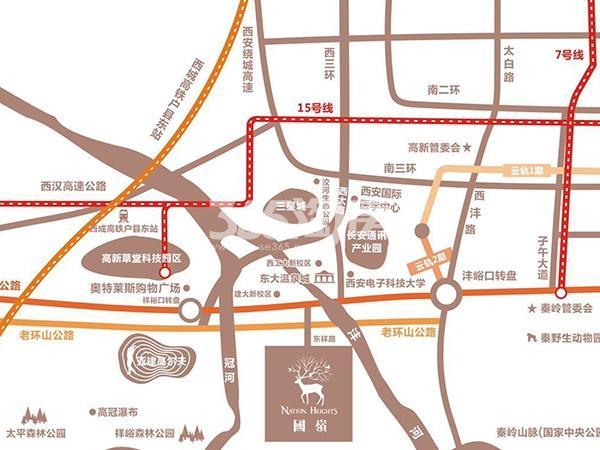 国岭交通图