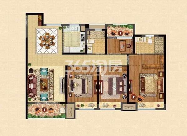 A户型138㎡四房两厅两卫