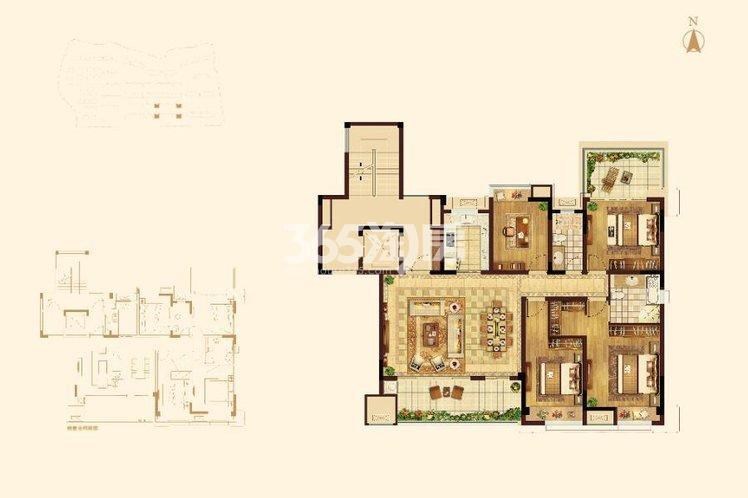 蓝光雍锦园洋房146平垂荫台户型图
