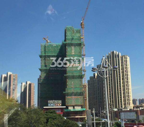 中邦欢乐颂1#楼工程进度实景(2017.8)