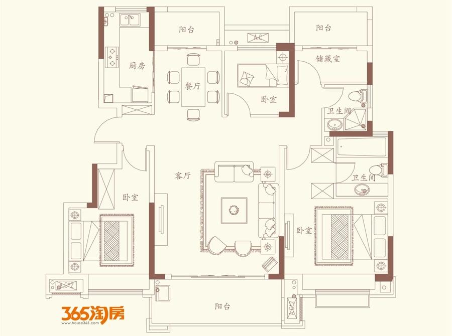 高速御府Y2 126㎡户型图