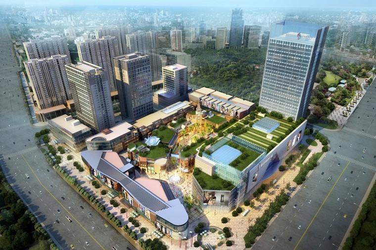 蚌埠新地城市广场新地城市广场鸟瞰图