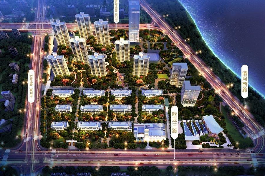 万科悦湾项目鸟瞰图