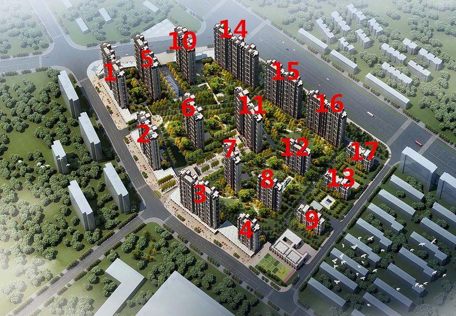 中国铁建青秀城鸟瞰图