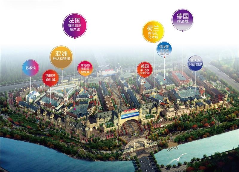 世界欢乐城外语城鸟瞰图