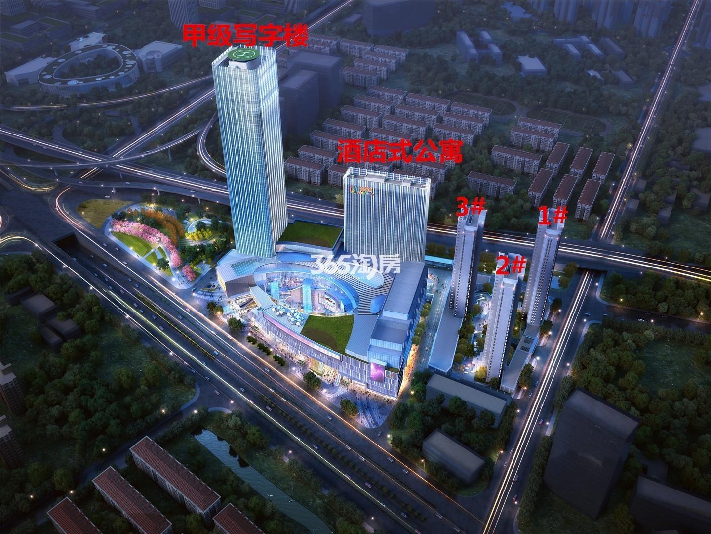 德盈龙华国际广场鸟瞰图