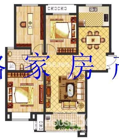 【城市之光】半岛别墅旁.高层三室.无遮挡.好户型.急售.