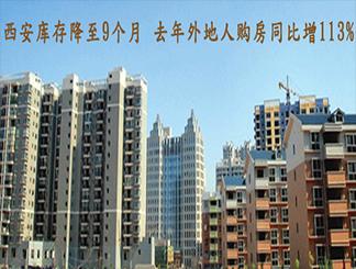 西安库存降至9个月 去年外地人购房同比增113%